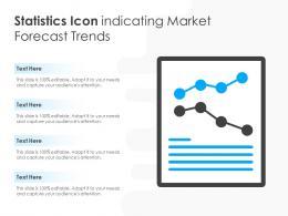 Statistics Icon Indicating Market Forecast Trends