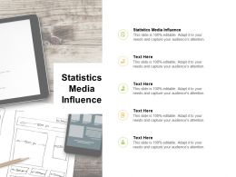 Statistics Media Influence Ppt Powerpoint Presentation Portfolio Influencers Cpb
