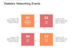 Statistics Networking Events Ppt Powerpoint Presentation Slides Tips Cpb