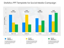 Statistics PPT Template For Social Media Campaign