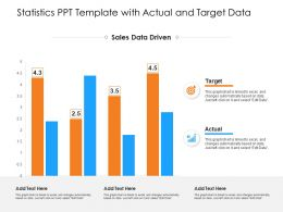 Statistics PPT Template With Actual And Target Data