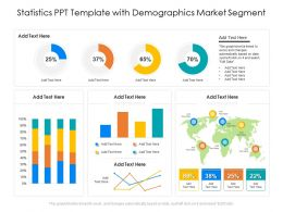 Statistics PPT Template With Demographics Market Segment