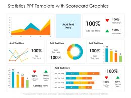 Statistics PPT Template With Scorecard Graphics