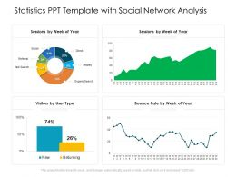 Statistics PPT Template With Social Network Analysis