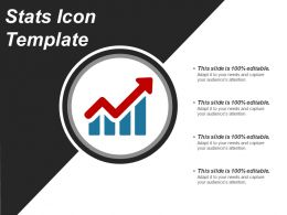 Stats Icon Template Powerpoint Presentation