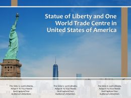 Statue Of Liberty And One World Trade Centre In United States Of America