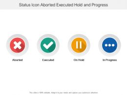 Status Icon Aborted Executed Hold And Progress