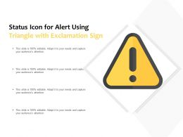 Status Icon For Alert Using Triangle With Exclamation Sign