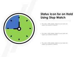 Status Icon For On Hold Using Stop Watch