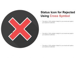 Status Icon For Rejected Using Cross Symbol