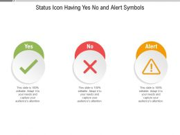 Status Icon Having Yes No And Alert Symbols