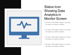 Status Icon Showing Data Analytics In Monitor Screen