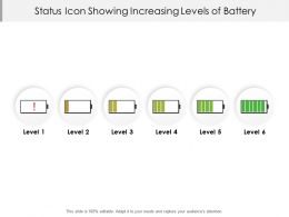 Status Icon Showing Increasing Levels Of Battery