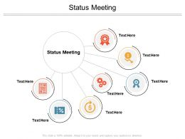 Status Meeting Ppt Powerpoint Presentation Pictures Graphics Cpb