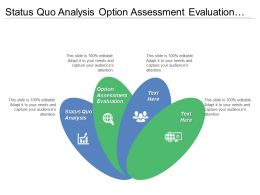 Status Quo Analysis Option Assessment Evaluation Articulation Strategic Roadmap