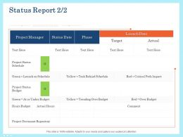 Status Report Manager Ppt Powerpoint Presentation Gallery Inspiration
