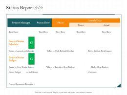 Status Report Task Behind Ppt Powerpoint Presentation Ideas Show