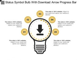 Status Symbol Bulb With Download Arrow Progress Bar