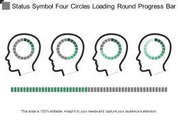 Status Symbol Four Circles Loading Round Progress Bar 2