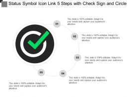 Status Symbol Icon Link 5 Steps With Check Sign And Circle