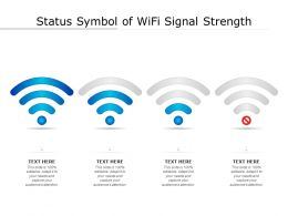Status Symbol Of WiFi Signal Strength