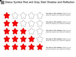 Status Symbol Red And Gray Start Shadow And Reflection