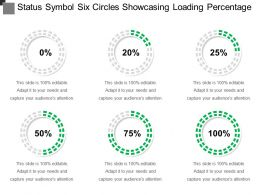 Status Symbol Six Circles Showcasing Loading Percentage