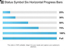 Status Symbol Six Horizontal Progress Bars