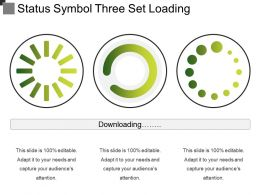 Status Symbol Three Set Loading