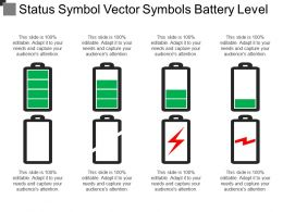 Status Symbol Vector Symbols Battery Level