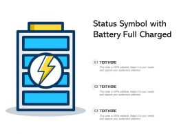Status Symbol With Battery Full Charged
