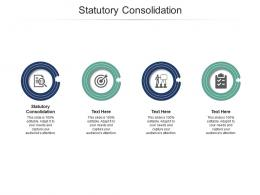 Statutory Consolidation Ppt Powerpoint Presentation Pictures Infographics Cpb