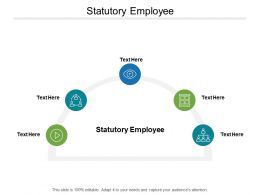 Statutory Employee Ppt Powerpoint Presentation Show Slide Cpb