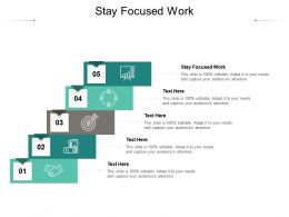 Stay Focused Work Ppt Powerpoint Presentation Model Visual Aids Cpb