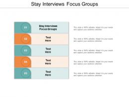 Stay Interviews Focus Groups Ppt Powerpoint Presentation Layouts Guidelines Cpb