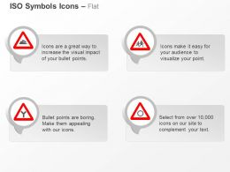 Steep Descent School Ahead Y Intersection Rotary ISO Icons For Powerpoint
