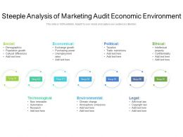 Steeple Analysis Of Marketing Audit Economic Environment