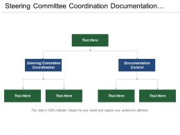 Steering Committee Coordination Documentation Control Process Planning Strategy