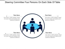Steering Committee Four Persons On Each Side Of Table