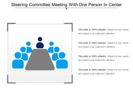 Steering Committee Meeting With One Person In Center