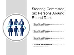 Steering Committee Six Persons Around Round Table