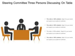 Steering Committee Three Persons Discussing On Table