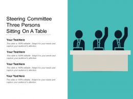 Steering Committee Three Persons Sitting On A Table