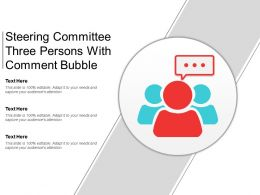 Steering Committee Three Persons With Comment Bubble