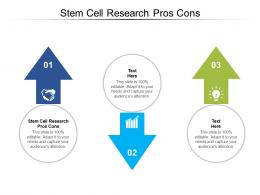 Stem Cell Research Pros Cons Ppt Powerpoint Presentation Infographic Template Icons Cpb