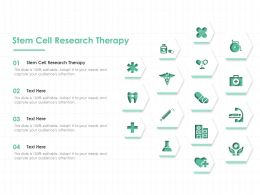 Stem Cell Research Therapy Ppt Powerpoint Presentation Gallery Introduction