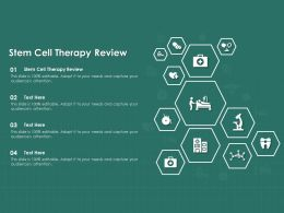 Stem Cell Therapy Review Ppt Powerpoint Presentation Infographics Graphics