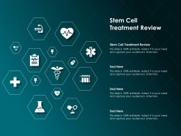 Stem Cell Treatment Review Ppt Powerpoint Presentation Icon Example Topics