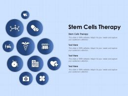 Stem Cells Therapy Ppt Powerpoint Presentation Styles Graphic Tips