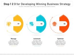 Step 1 2 3 For Developing Winning Business Strategy